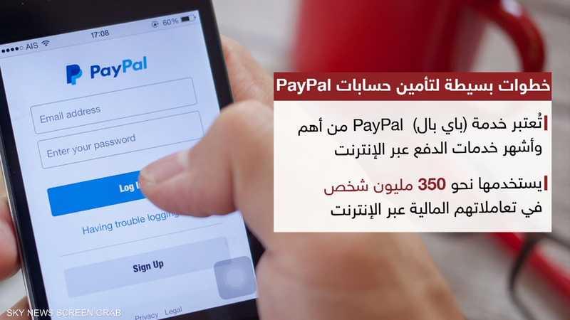 خطوات بسيطة لتأمين حسابات PayPal