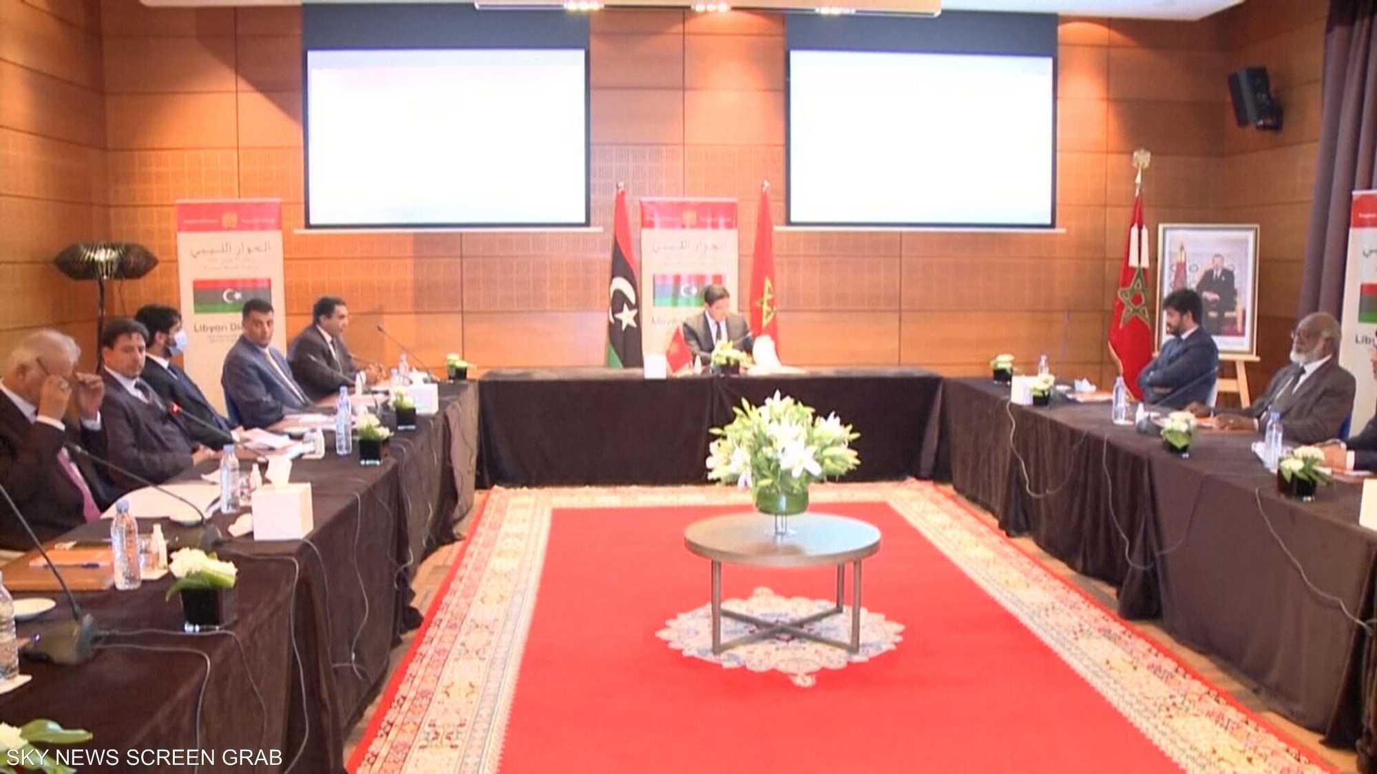 استئناف جلسات الحوار الليبي في المغرب الأحد