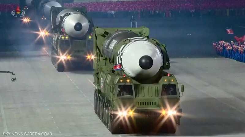 بيونغيانغ تكشف عن صواريخ جديدة عابرة للقارات