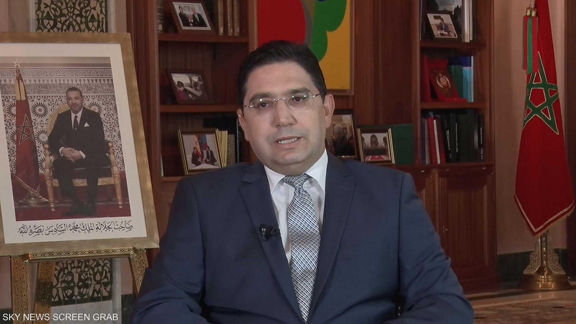 وزير الخارجية المغربي ناصر بوريطة ضيف مع جيزال