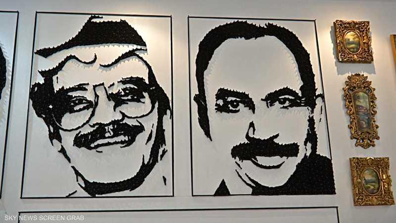 سعودي استخدم أكثر من ألفي مسمار في رسم الفنانين