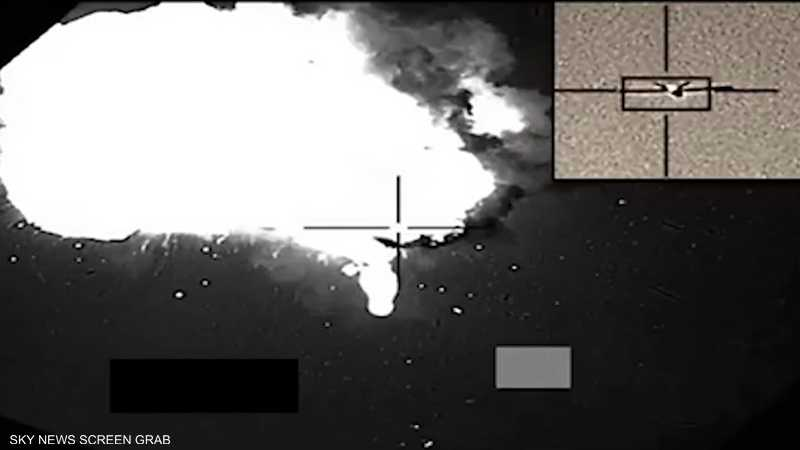 التحالف ينشر فيديو لتدمير طائرات مسيرة أطلقها الحوثيون