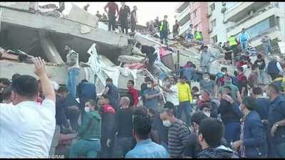 تسونامي جزئي إثر زلزال بحر إيجة ومقتل 4 أشخاص