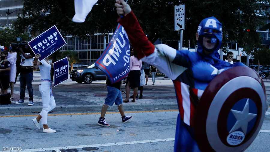 حتى كابتن أميركا يثبت حضوره قبيل الانتخابات المرتقبة.