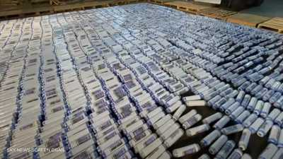 بالفيديو.. ضبط مخدرات بـ25 مليون دولار في مصر