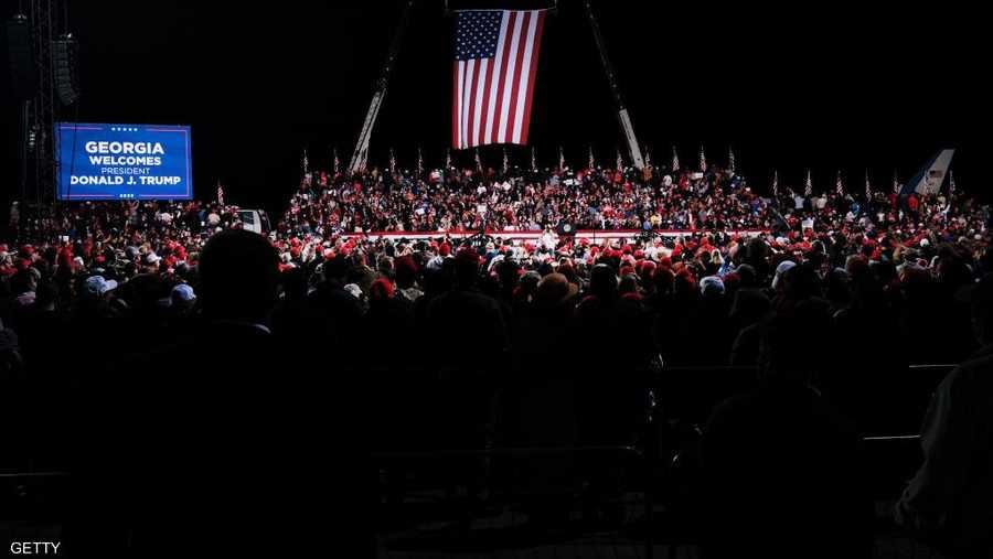 تجمع المئات من مؤيدي ترامب في مدينة فالدوستا.