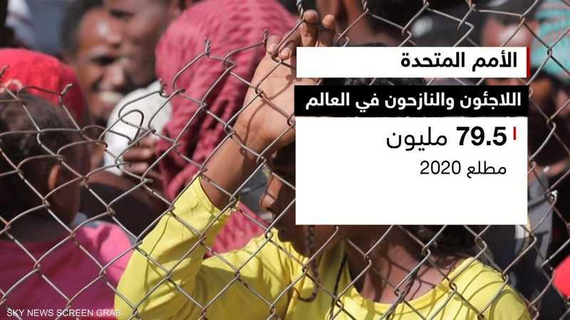 عدد اللاجئين والنازحين تجاوز 80 مليونا منتصف 2020