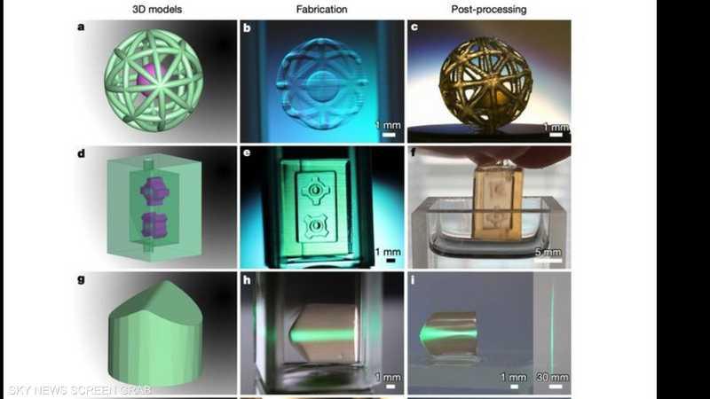 هذه التقنية يمكنها إنتاج كائنات بمقياس ميكرومتر
