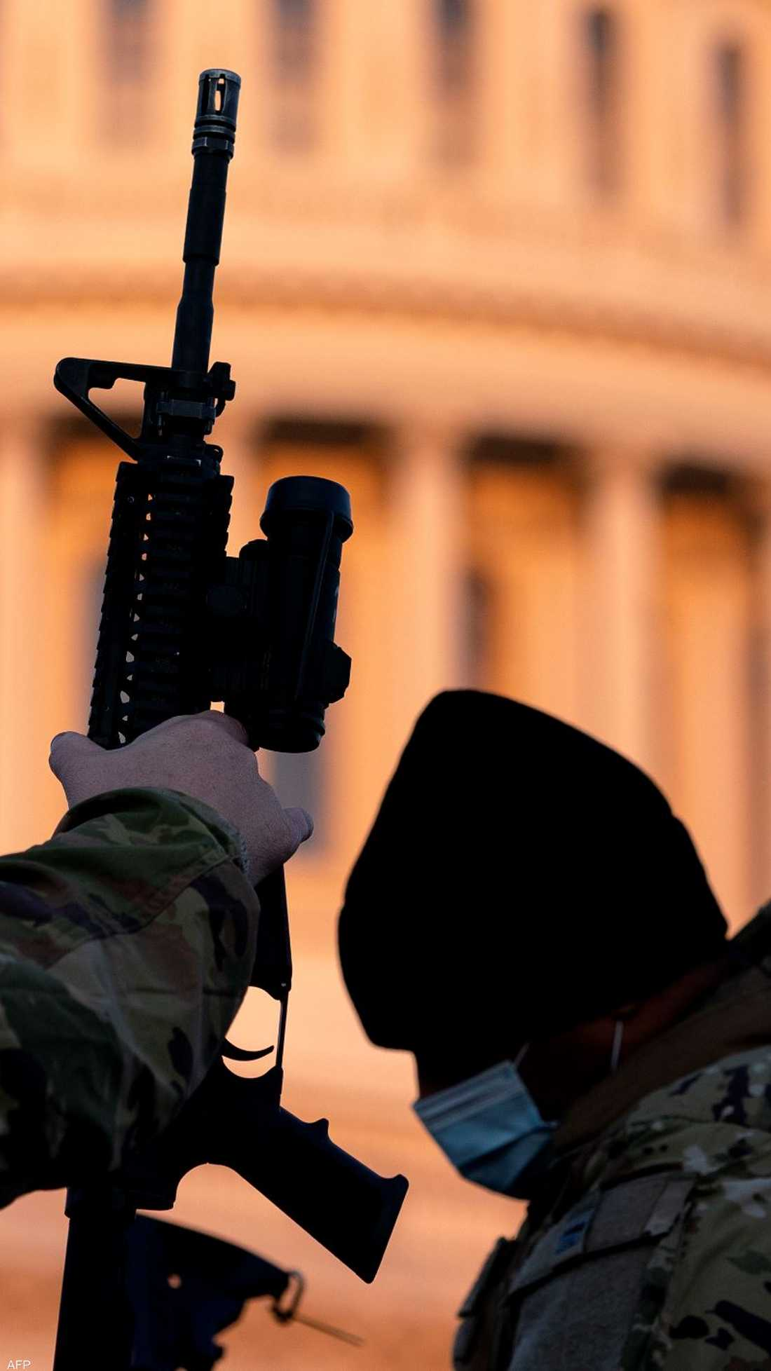قوات الحرس الوطني في محيط الكابيتول