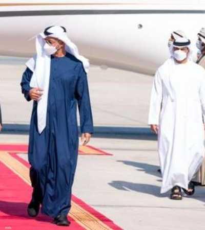 الشيخ محمد بن زايد مستقبلا الملك عبد الله في أبوظبي