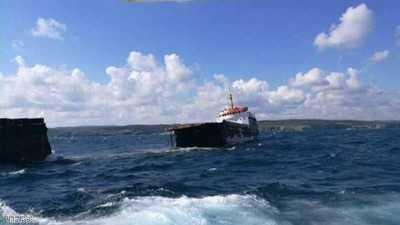 غرق سفينة شحن روسية قبالة ساحل تركيا على البحر الأسود