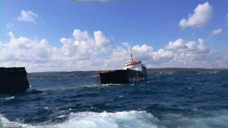 أرشيفية لسفينة قبالة السواحل التركية