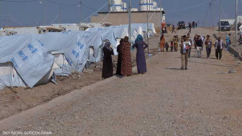 إغلاق مخيم للنازحين شرقي الموصل