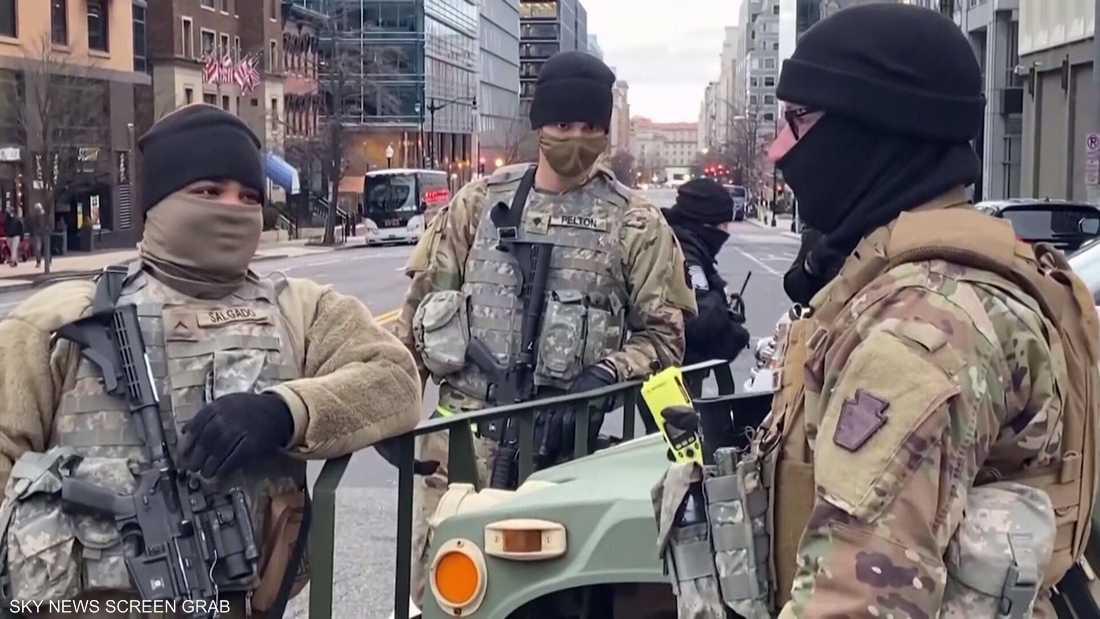 الحرس الوطني الامريكي المقدس بهم كورونا