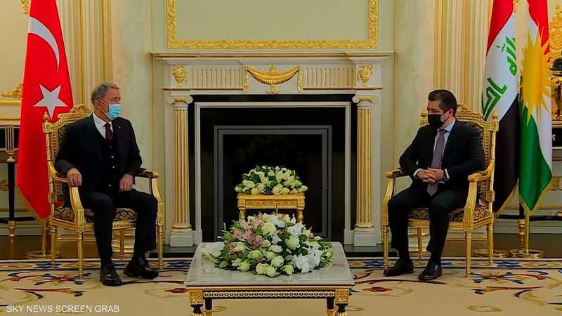 وزير دفاع تركيا يجري مباحثات مع مسؤولين بكردستان العراق