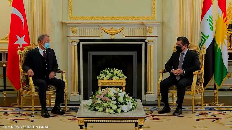 وزير دفاع تركيا يجري مباحثات مع مسؤولين بإقليم كردستان