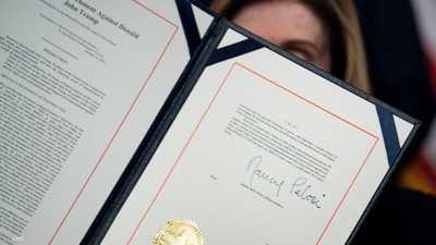 النواب الأميركي يسلم الشيوخ لائحة الاتهام ضد ترامب