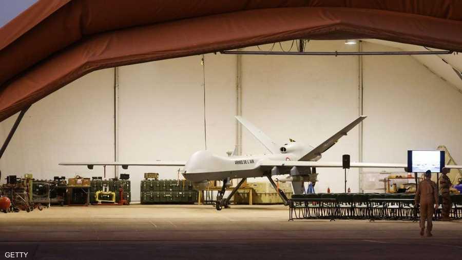 طائرة أميركية مسيرة قي قاعدة عسكرية في نيامي