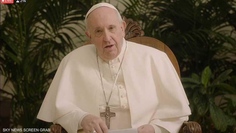 البابا فرانسيس يدعو لتعزيز الأخوّة الإنسانية