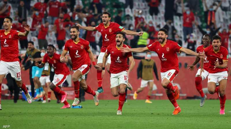 فرحة الفوز تغمر لاعبي الأهلي