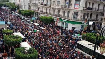 مسيرات تجوب الجزائر في الذكرى الثانية للحراك