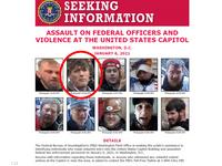 ملصق نشره إف بي آي لتحديد هويات المقتحمين ومن بينهم كلين