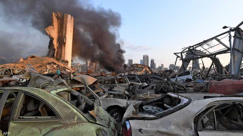إنفجار مرفأ بيروت دمر عددا كبيرا من السيارات المعدة للبيع