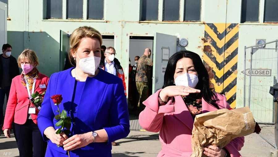 وزيرة الأسرة الألمانية تحتفل بعيد المرأة