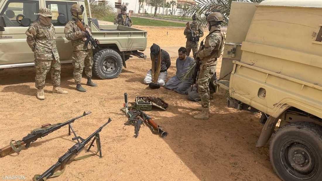 جانب من عملية اعتقال القيادي في داعش ليبيا