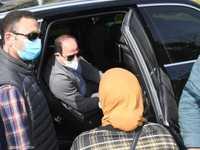 تصادف وجود السيدة أثناء مرور السيسي بمدينة نصر