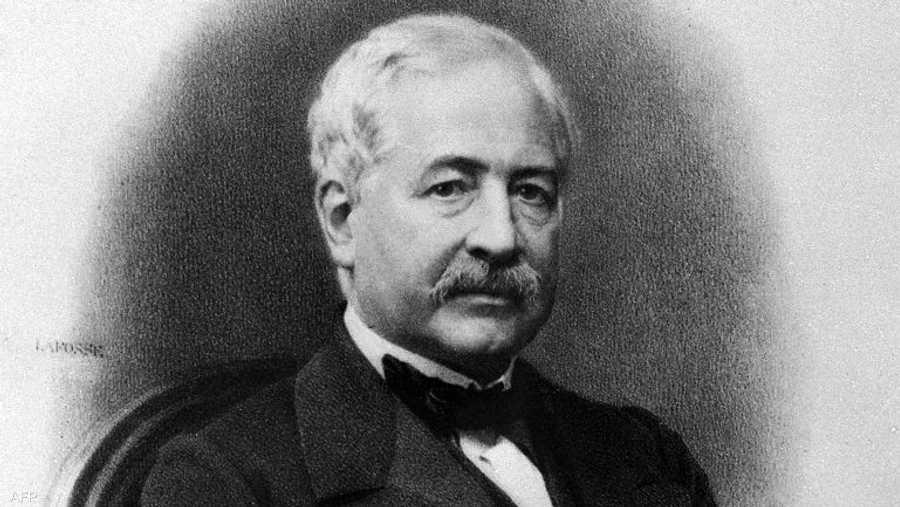 الفرنسي فرديناند ديليسبس، صاحب فكرة حفر قناة السويس.