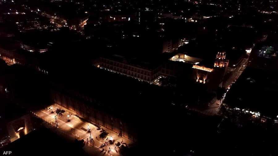 مسرح ديغولادو بالمكسيك بعد إطفاء الأنوار.