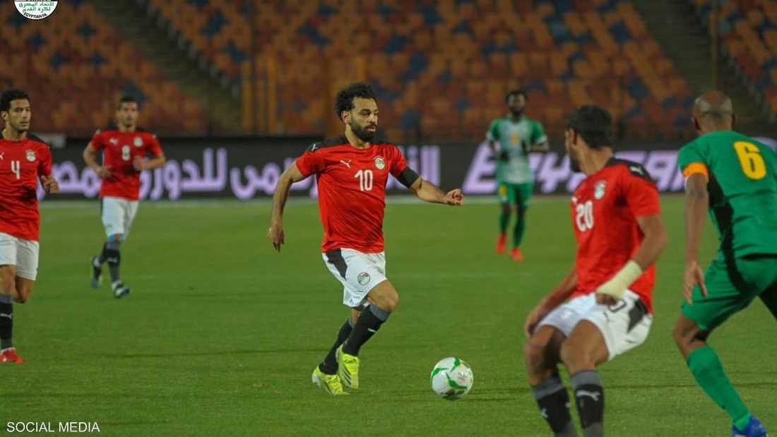محمد صلاح ارتدى شارة قيادة المنتخب خلال مباراة جزر القمر