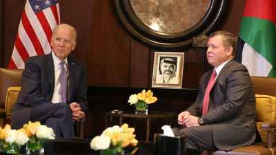 """بايدن يؤكد """"تضامن أميركا التام"""" مع الأردن"""