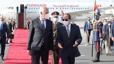 """""""هجوم إخواني"""" ضد قيس سعيد بسبب زيارته إلى مصر"""