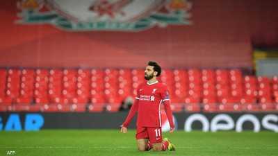 النجم المصري محمد صلاح لاعب ليفربول الإنجليزي