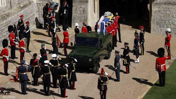 من جنازة الأمير فيليب