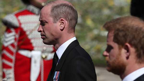 الأميران وليام وهاري في جنازة جدهما الأمير فيليب