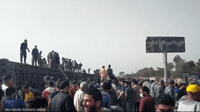 شاهد.. انقلاب قطار طوخ المنكوب في مصر