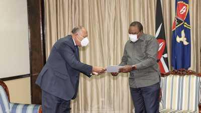 رسالة من السيسي إلى رئيس كينيا بشأن سد النهضة