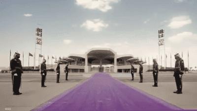السعودية تعتمد السجاد البنفسجي لاستقبال ضيوف المملكة