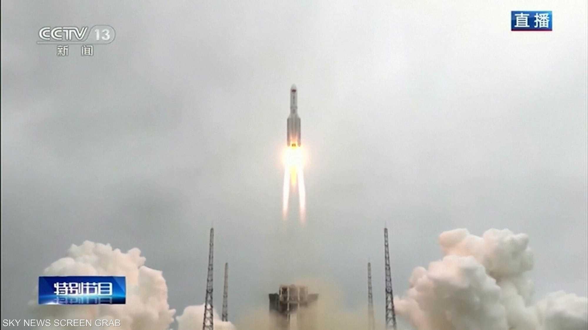 سقوط بقايا الصاروخ الصيني في المحيط الهندي