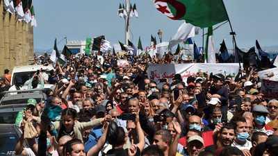جانب من إحدى التظاهرات في الجزائر