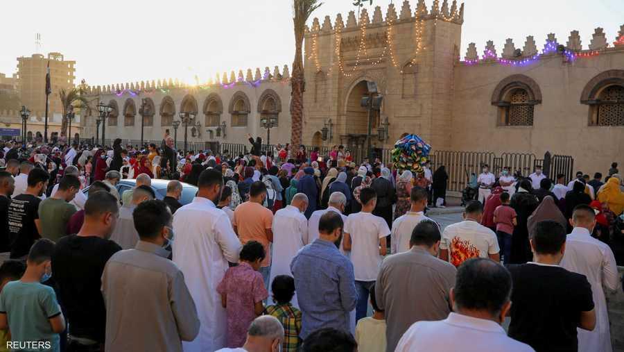 تجمع المصلين في العاصمة المصرية القاهرة