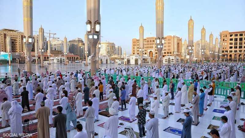 صلاة العيد في المدينة المنورة