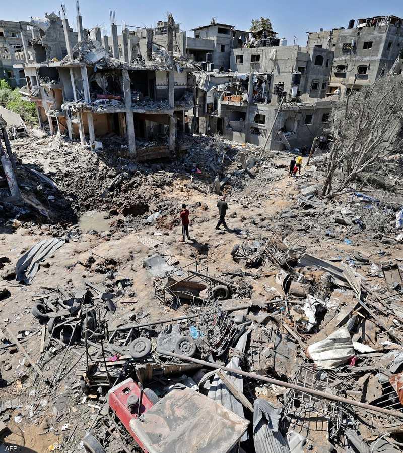 دمار خلفته غارة إسرائيلية في قطاع غزة