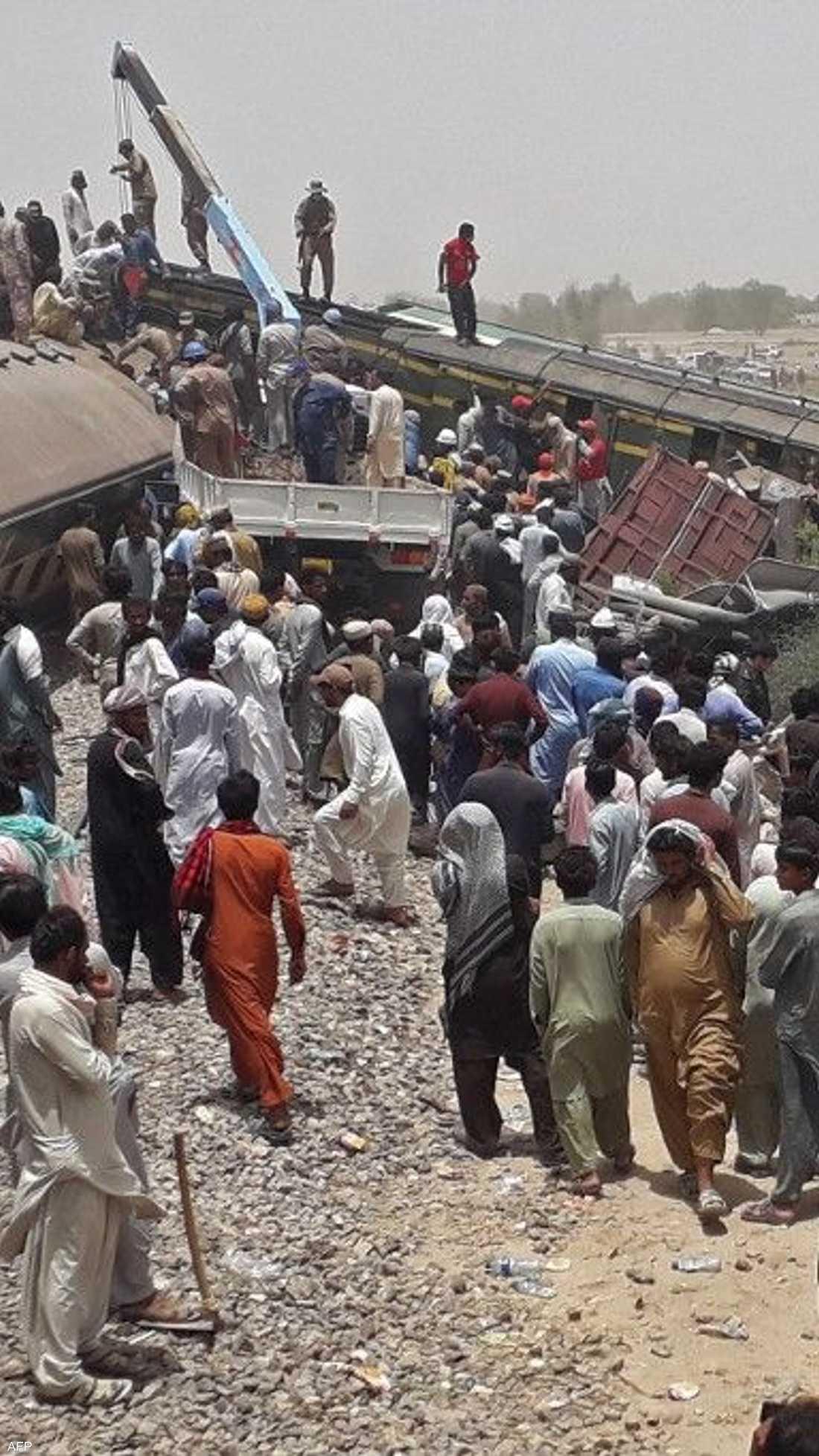 أصيب في الحادث أكثر من 100 شخص