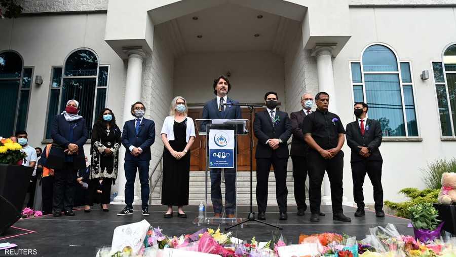 رئيس الوزراء جاستن ترودو تحدث أمام مسجد مدينة لندن الرئيسي