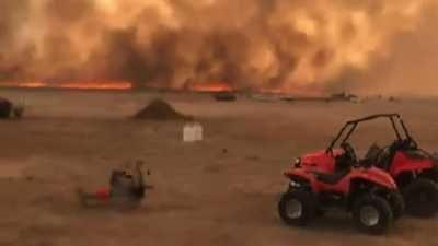 البرق يحرق 10000 فدان من غابات جنوب غربي يوتا