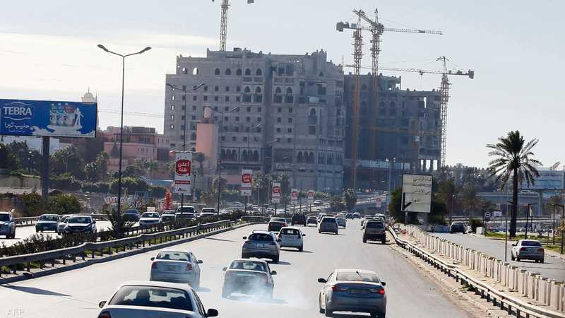 أحد طرق العاصمة الليبية
